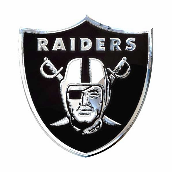 Raiders Chrome Team Logo Emblem