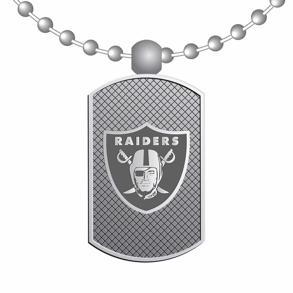 Raiders Classic Dog Tag Necklace