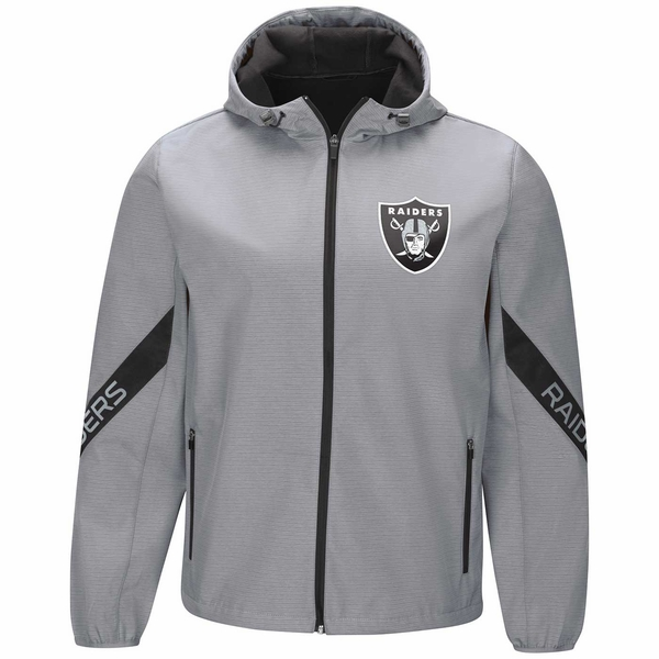 Raiders Crossover Transitional Hooded Soft-Shell Jacket