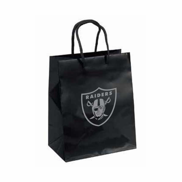 Raiders Crystal Small Logo Black Gift Bag