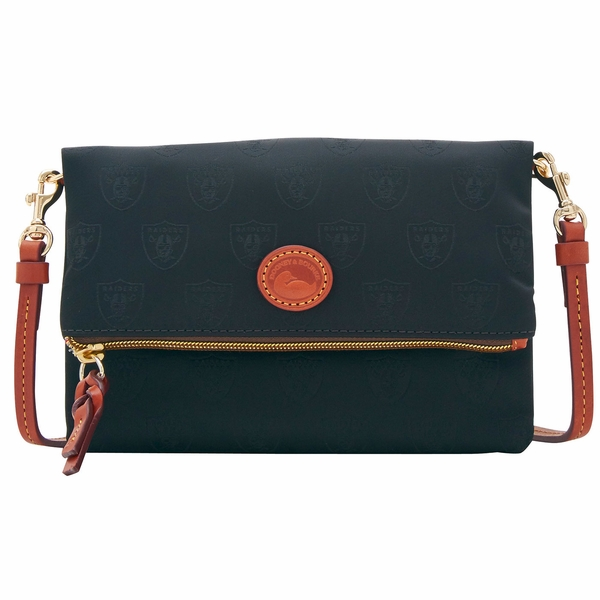 Raiders Dooney & Bourke Nylon Foldover Zip Crossbody
