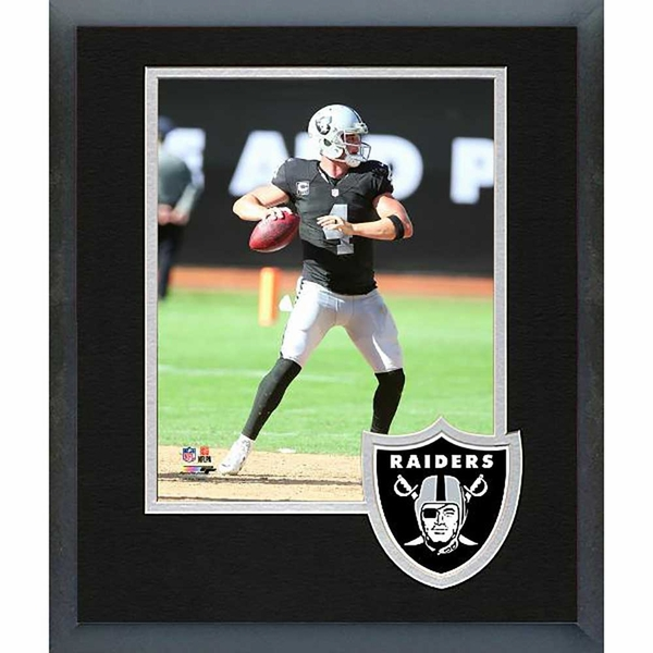 Raiders Framed Carr Photo