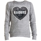 Raiders Girls Space Dye Sequins Crew