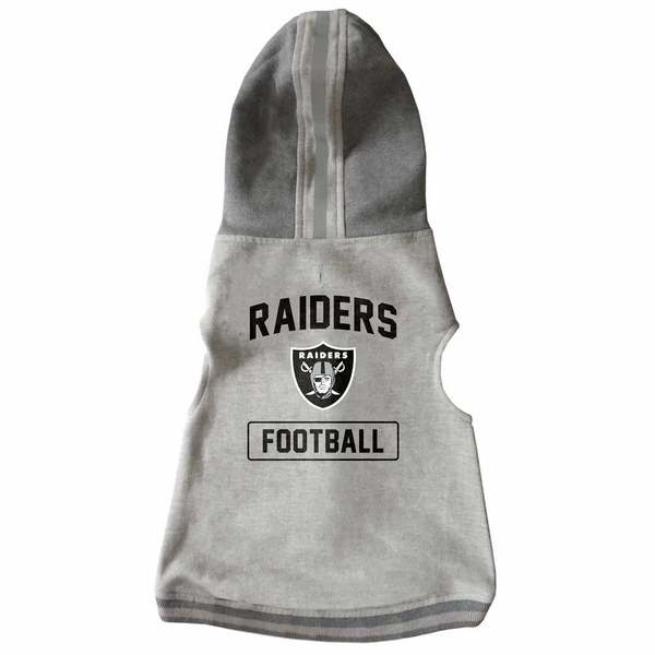 Raiders Grey Hooded Pet Crewneck
