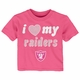Raiders Infant I Heart My Team Pink Tee