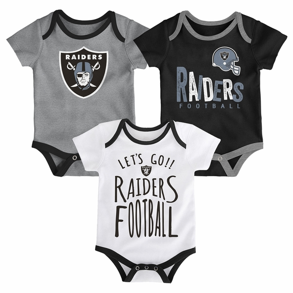 Raiders Infant Little Tailgater Three Pack Set