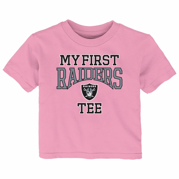 Raiders Infant My First Pink Tee