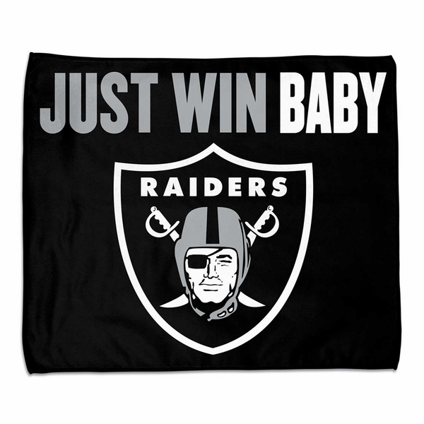 Raiders Just Win Baby 15 x 18 Towel