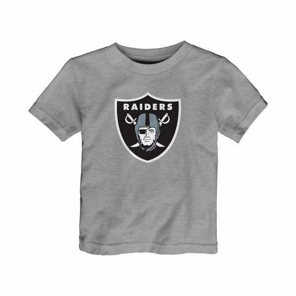 Raiders Juvenile Heather Logo Tee