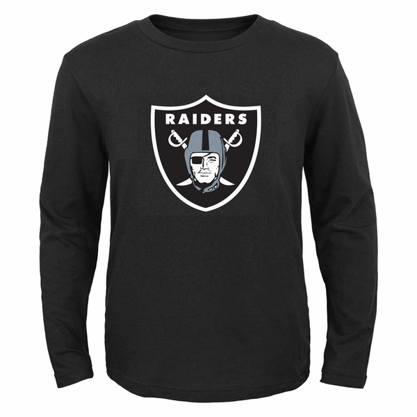 Raiders Juvenile Long Sleeve Shield Logo Tee