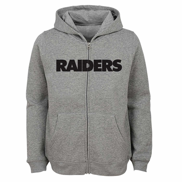 Raiders Juvenile Wordmark Full Zip