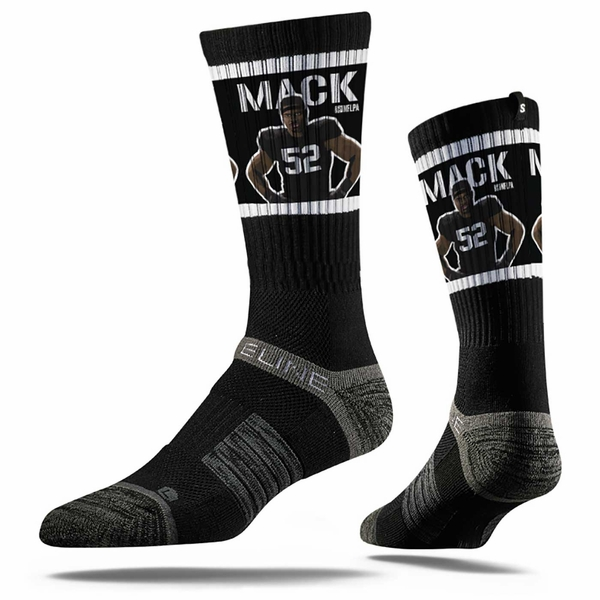 Raiders Khalil Mack Stance Crew Socks
