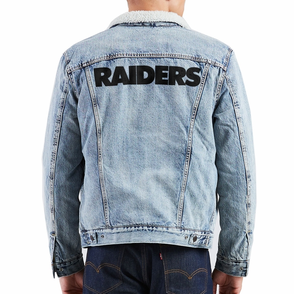 Raiders Levi's Sherpa Trucker Jacket