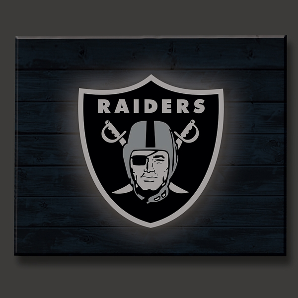 Raiders Lit Wall Décor