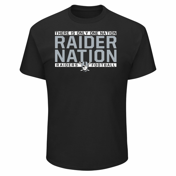 Raiders Majestic Raider Nation IV Tee