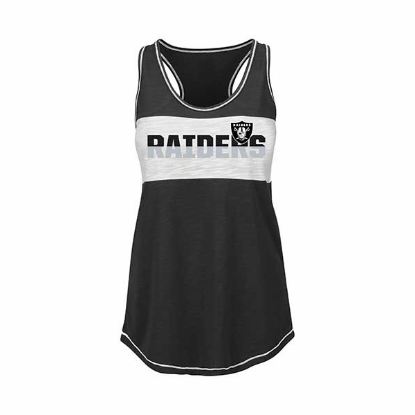 Raiders Majestic Women's Game Time Glitz Tank