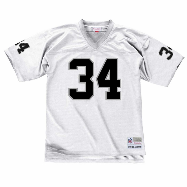 Raiders Mitchell & Ness Bo Jackson White Replica Jersey