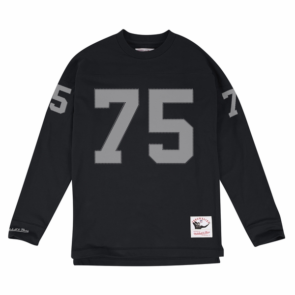 Raiders Mitchell & Ness Howie Long Name & Number Long Sleeve Tee