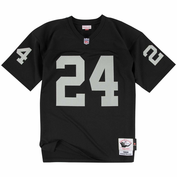 Raiders Mitchell & Ness Woodson 1998 Black Jersey