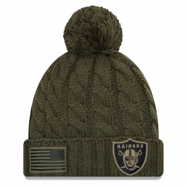 Raiders New Era 2018 Women's Salute to Service On Field Knit