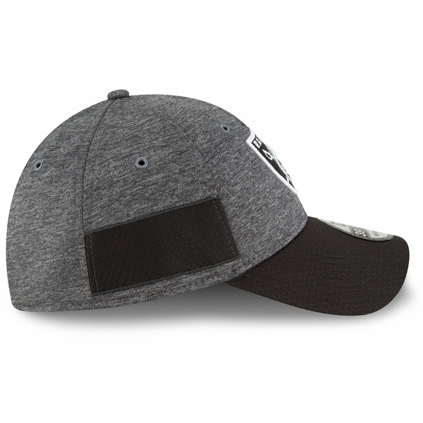 Raiders New Era 39Thirty 2018 Official Sideline Graphite Home Cap