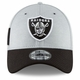 Raiders New Era 39Thirty 2018 Official Sideline Home Cap