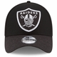 Raiders New Era 39Thirty Jumbo Scale Black Cap