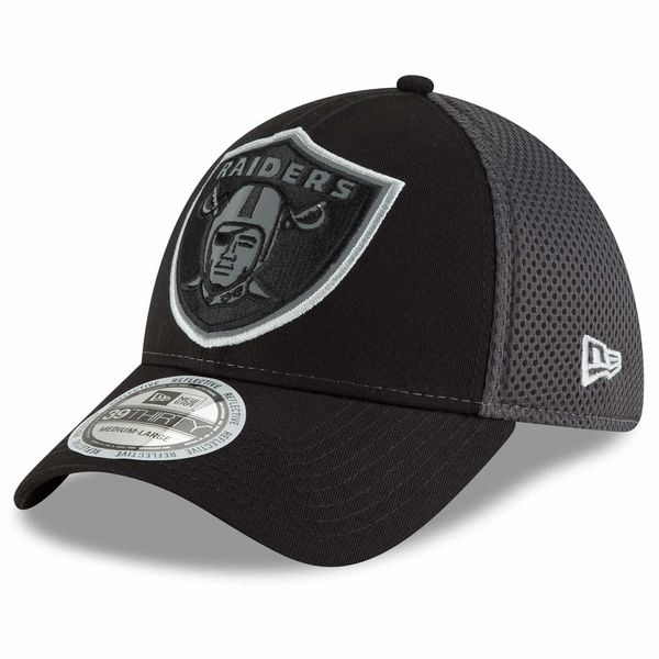 Raiders New Era 39Thirty Mega 'Flect Shield Cap