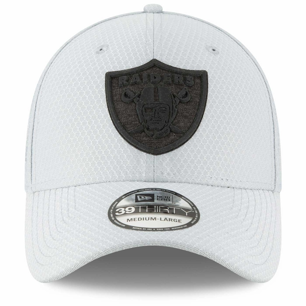 Raiders New Era 39Thirty Official 2018 Training Camp Grey Cap