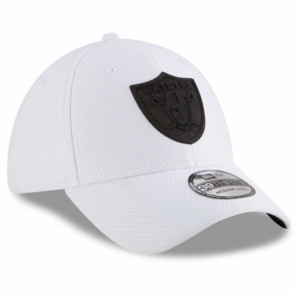 Raiders New Era 39Thirty Official 2018 Training Camp White Cap