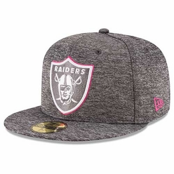 00359995a0871 Raiders New Era 59Fifty 2016 Official Breast Cancer Awareness Cap