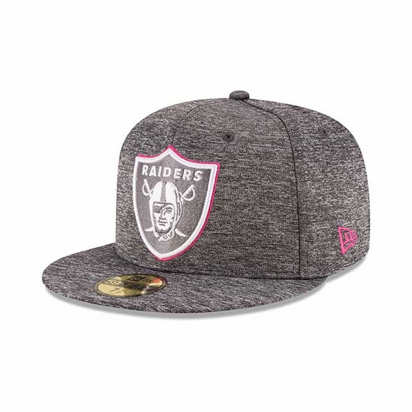 finest selection 252e4 51ad5 Raiders New Era 59Fifty 2016 Official Breast Cancer Awareness Cap