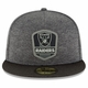 Raiders New Era 59Fifty 2018 Official Sideline Black Road Cap