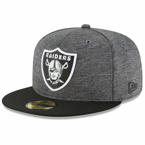 Raiders New Era 59Fifty 2018 Official Sideline Graphite Home Cap