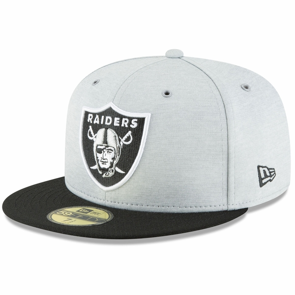 Raiders New Era 59Fifty 2018 Official Sideline Home Cap