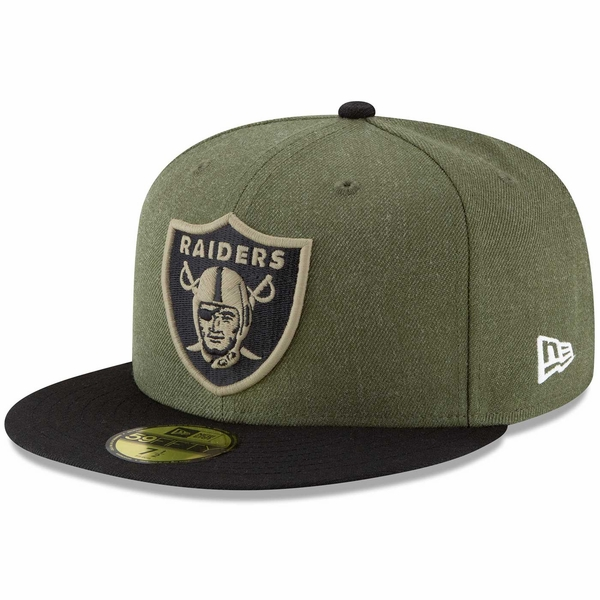 Raiders New Era 59Fifty 2018 Salute to Service Cap