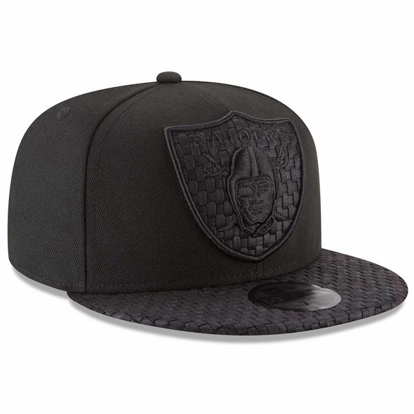 Raiders New Era 59Fifty Logo Weave Black Cap