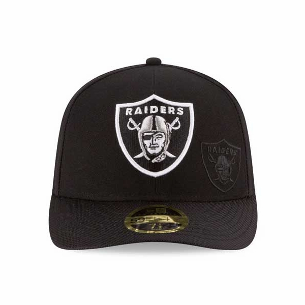 Raiders New Era 59Fifty Low Profile 2016 Sideline Cap