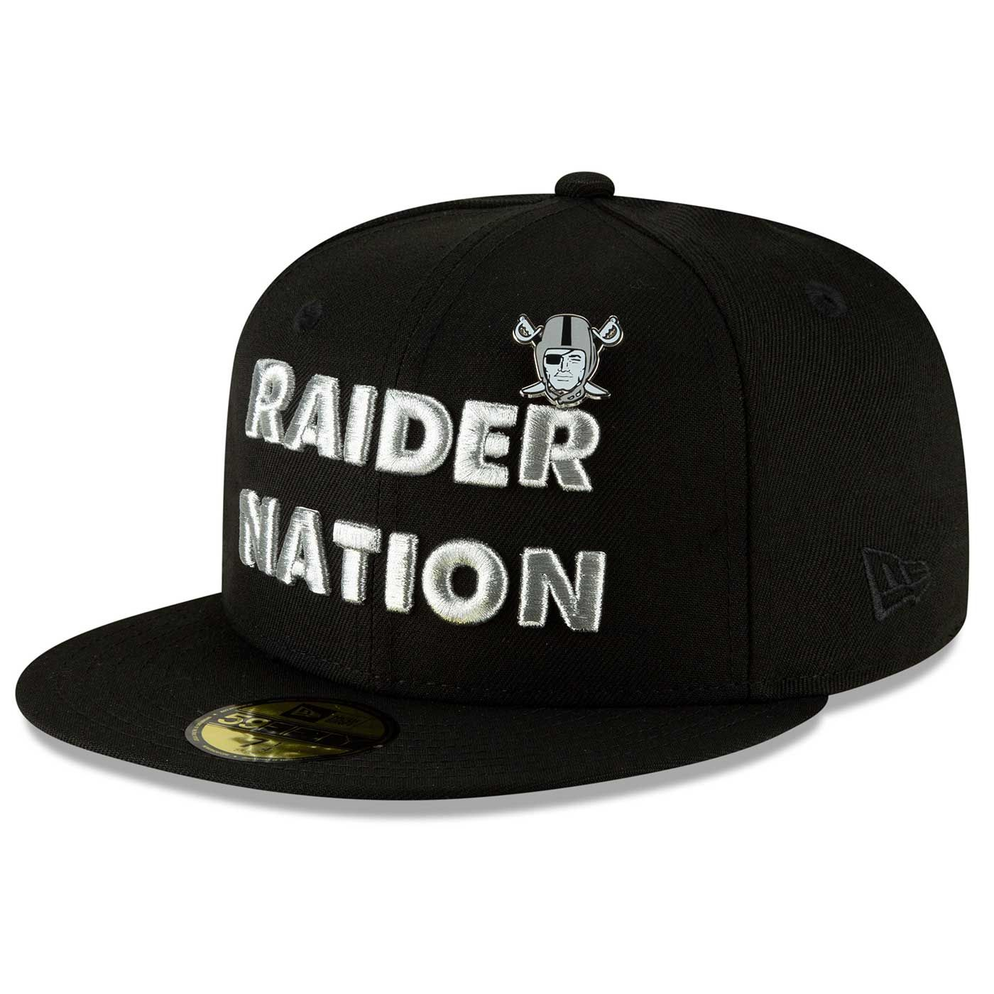 Raiders New Era 59Fifty Raider Nation Heather Pin 70b609590