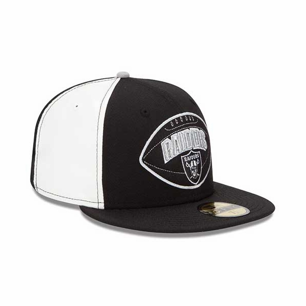 Raiders New Era 59Fifty Retro Patch Fitted Cap