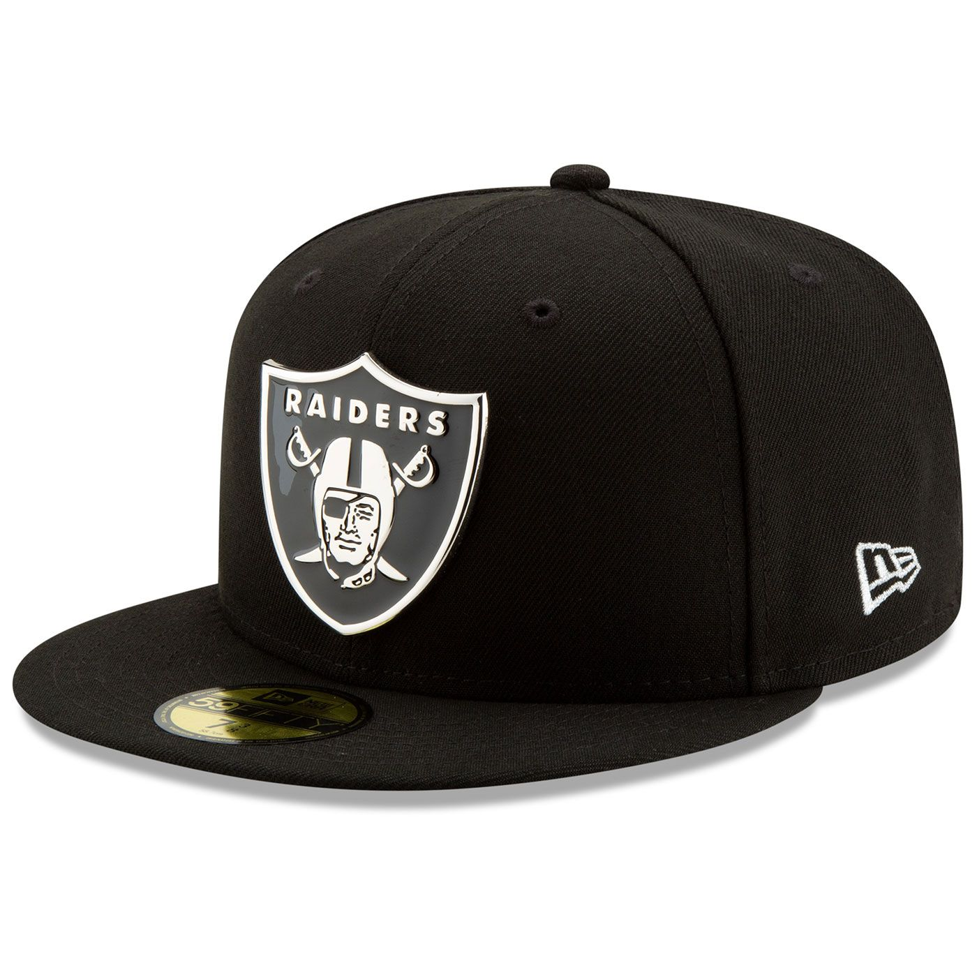 d001f335e5a Raiders New Era 59Fifty Silver Front Cap