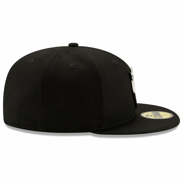 Raiders New Era 59Fifty Silver Front Cap