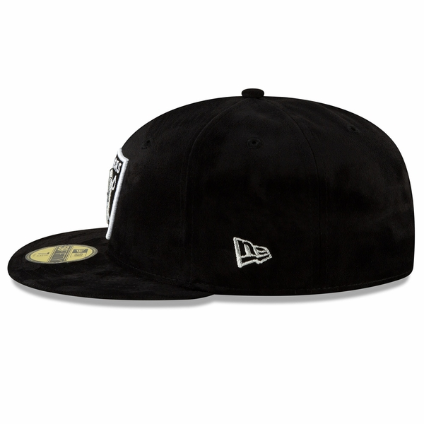 Raiders New Era 59Fifty Suede Logo Fitted
