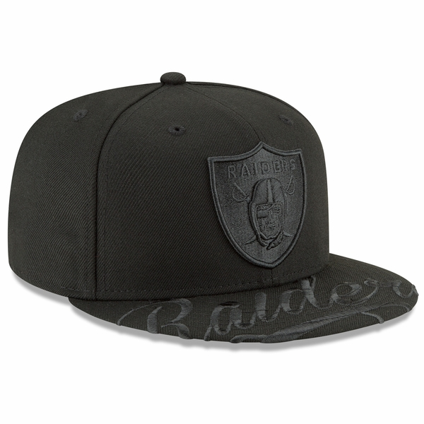 Raiders New Era 59Fifty Visor Script Black Cap