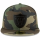 Raiders New Era 59Fifty Woodland Badge Fitted Cap
