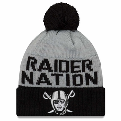 Raiders New Era 6 Dart Cuff Pom Knit 062344760