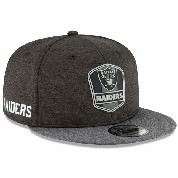 Raiders New Era 9Fifty 2018 Official Sideline Black Road Cap