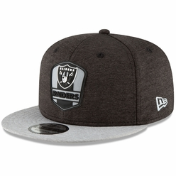 38126c88a Raiders New Era 9Fifty 2018 Official Sideline Road Cap