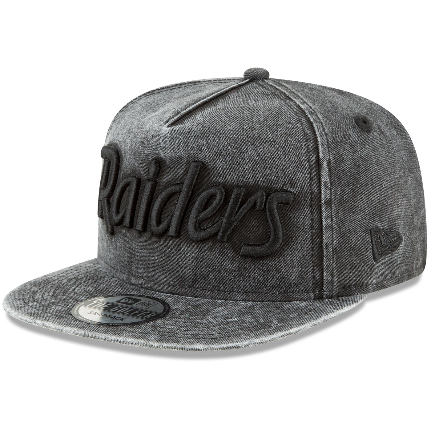f9f221bd681 Raiders New Era 9Fifty Easy Washed Black Cap