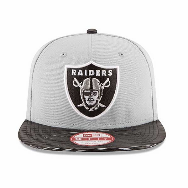 Raiders New Era 9Fifty Leather Rip Snap